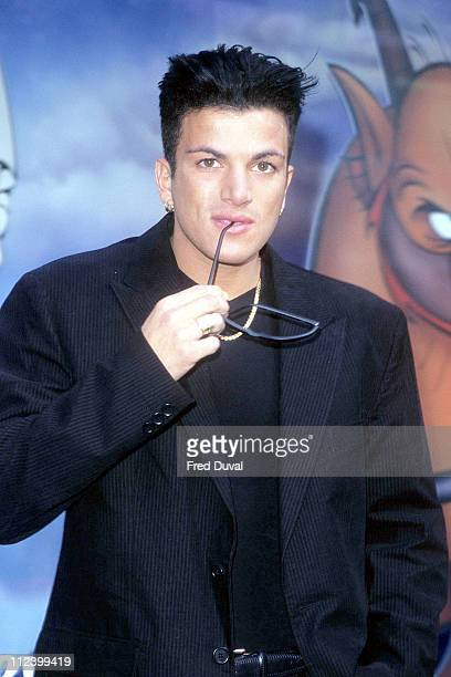 Peter Andre during Peter Andre 'Hercules' Window at Selfridges October 1 1997 at Selfridges in London Great Britain