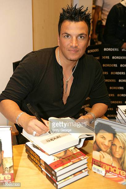 Peter Andre during Peter Andre Signs his Book 'All About Us' at Borders in Leeds at Borders in Leeds Great Britain
