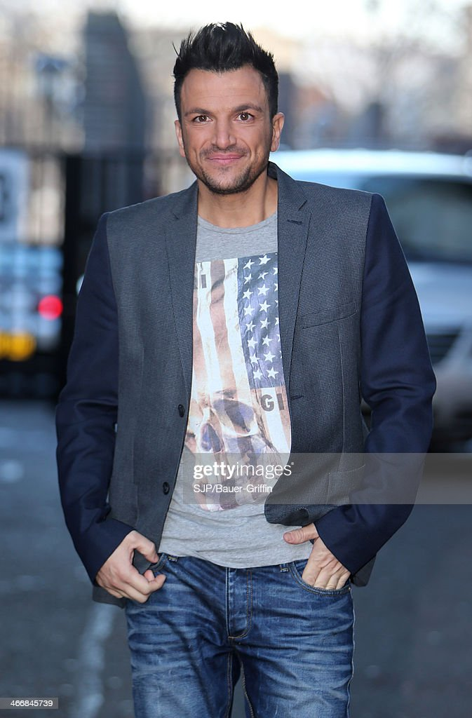 Peter Andre is seen outside the London Studios on February 04 2014 in London United Kingdom