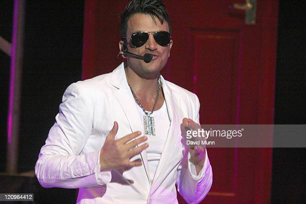 Peter Andre performs at The Liverpool Philharmonic Hall on March 28 2010 in Liverpool England