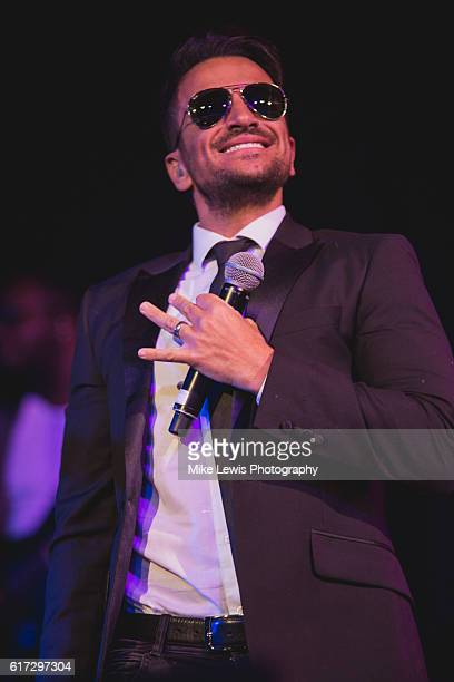 Peter Andre performs on stage at The Neon in Newport on October 22 2016 in Newport United Kingdom