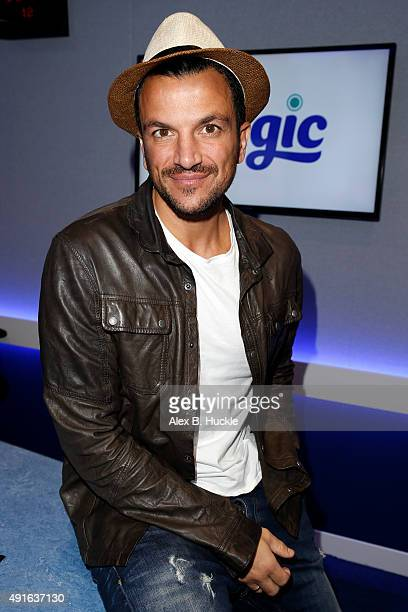 Peter Andre Visits Magic Radio on October 7 2015 in London England