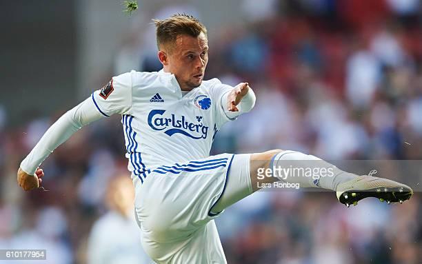 Peter Ankersen of FC Copenhagen in action during the Danish Alka Superliga match between FC Copenhagen and AGF Aarhus at Telia Parken Stadium on...