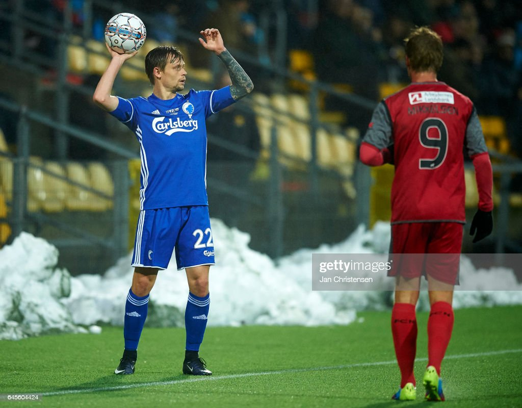 Peter Ankersen of FC Copenhagen in action during the Danish Alka Superliga match between FC Nordsjalland and FC Copenhagen at Right to Dream Park on February 26, 2017 in Farum, Denmark.