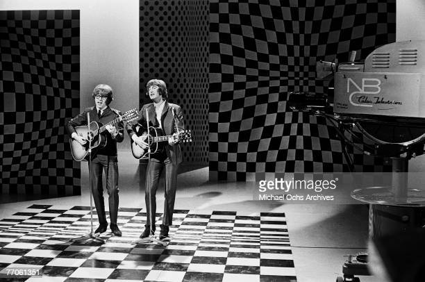 Peter Asher and Gordon Waller of Peter Gordon perform on 'Hullabaloo' at NBC's Studio 8H on March 30 in New York New York