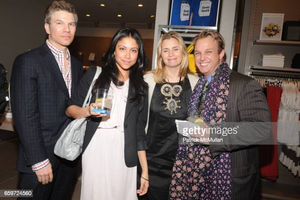 Peter Bacanovic Grace GomezBrea Susan Kilkenny and Buck Jensen attend INTERVIEW MAGAZINE and UNITED COLORS OF BENETTON Toast MIKE MILLS and 'Graphic...