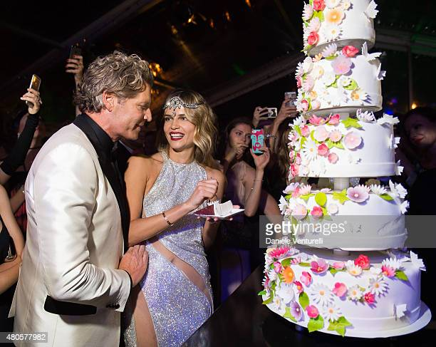 Peter Bakker and Natasha Poly attend Natasha Poly BDAY party in Amsterdam on July 12 2015 in Amsterdam Netherlands