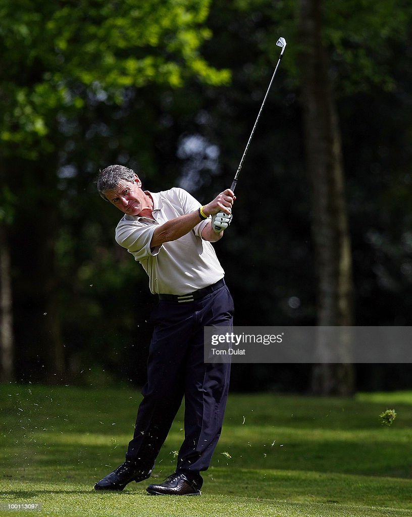 Peter Barber of Didsbury takes a shot from the 6th fairway during the Virgin Atlantic PGA National Pro-Am Championship Regional Qualifier at Dunham Forest Golf and Country Club on May 21, 2010 in Manchester, England.
