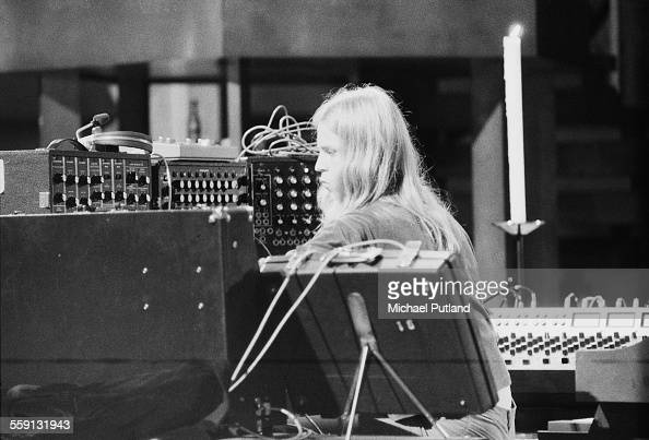 Peter Baumann performing with German electronic music group Tangerine ...