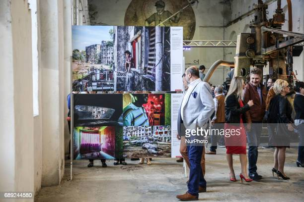 Peter Bauza 'Copacabana Palace' photos on the opening of World Press Photo 2017 exhibition in the former Powerhouse of Royal Iron Works in Chorzow...