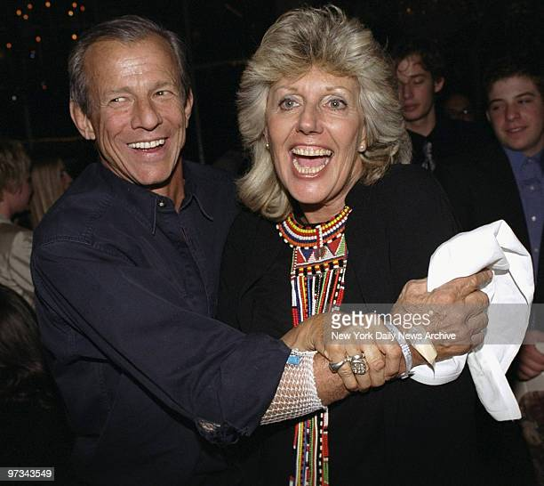 Peter Beard and Kuki Gallmann at premiere party for the movie 'I Dreamed Of Africa' at Tavern on the Green Gallmann is the author of the book on...