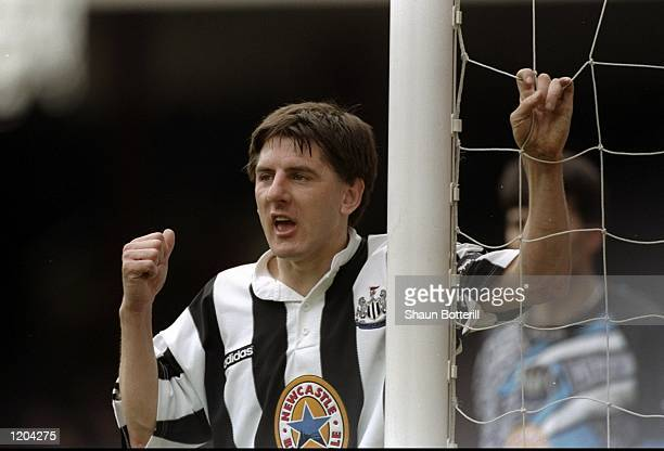 Peter Beardsley of Newcastle United waits for a cross during a match Mandatory Credit Shaun Botterill/Allsport