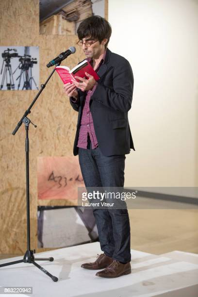 Peter Behrman de Sinety reads 'Tombeau pour Cinq Cent Mille Soldats' for 50th anniversary of the book at Azzedine Alaia Gallery on October 19 2017 in...