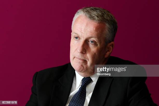 Peter Bellew chief executive officer of Malaysia Airlines Bhd listens during an interview in Kulala Lumpur on Monday July 24 2017 Malaysia...