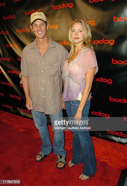 Peter Berg and Estella Warren during bodognet Salute to the Troops Charity Event Benefitting Military Charity Fisher House Foundation Poker...