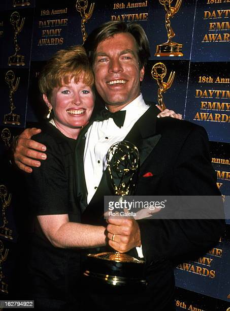 Peter Bergman and wife attend 18th Annual Daytime Emmy Awards on June 27 1991 at the Marriott Marquis Hotel in New York City