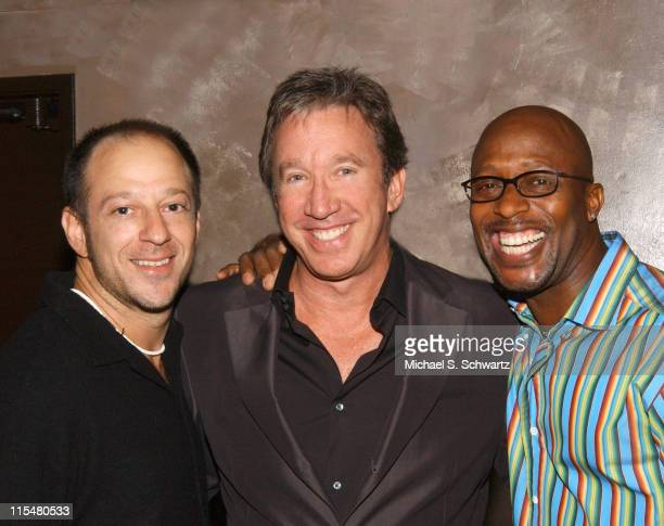 Peter Berman Tim Allen and Lowell Sanders during Comedian Peter Berman Portrait Session at The Ice House at The Ice House in Pasadena California...