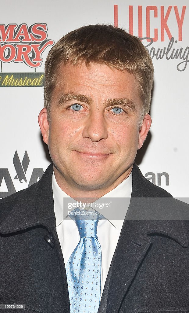 <a gi-track='captionPersonalityLinkClicked' href=/galleries/search?phrase=Peter+Billingsley&family=editorial&specificpeople=1543122 ng-click='$event.stopPropagation()'>Peter Billingsley</a> attends 'A Christmas Story: The Musical' broadway opening at Lunt-Fontanne Theatre on November 19, 2012 in New York City.