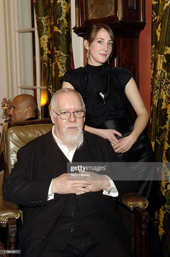 Peter Blake and Poppy de Villeneuve during Sir Peter Blake and Poppy de Villenueve Host Party at the Dover Street Arts Club April 20 2006 at Dover...