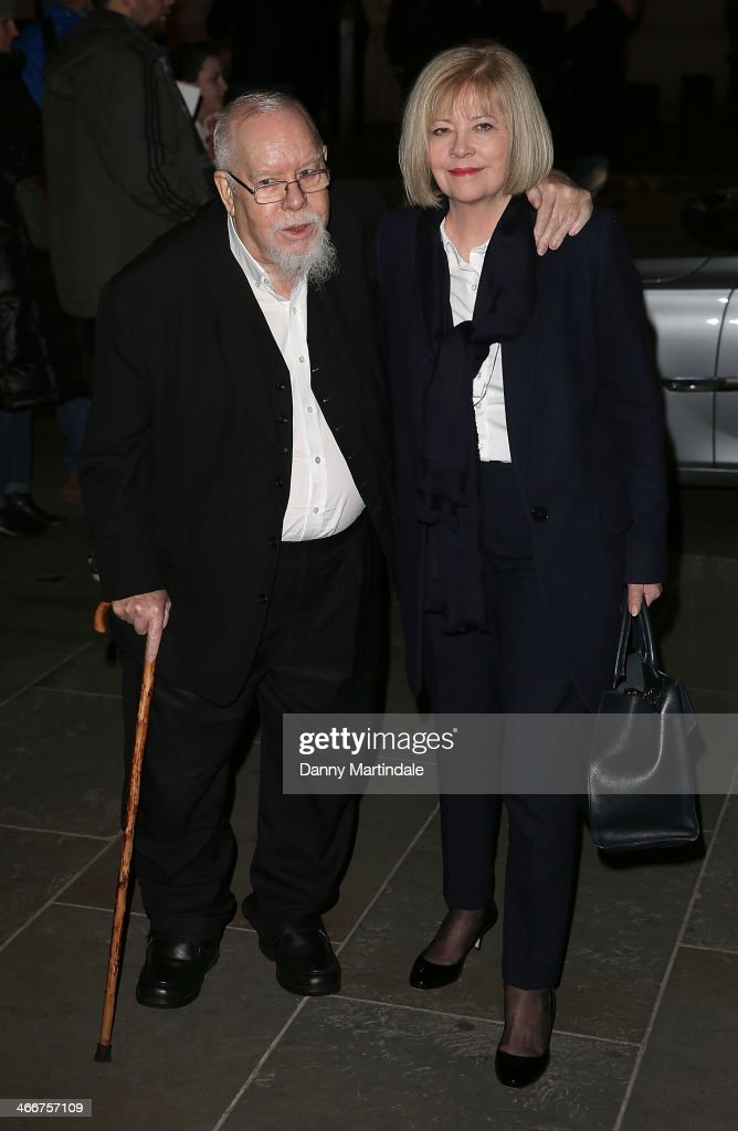 Peter Blake and wife Jann Haworth attend the VIP private view of David Bailey Bailey's Stardust at National Portrait Gallery on February 3 2014 in...