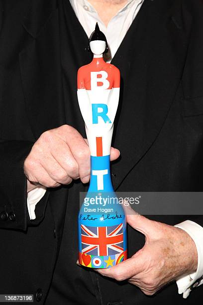 Peter Blake attends The BRIT Awards 2012 nominations announcement on January 12 2012 in London United Kingdom
