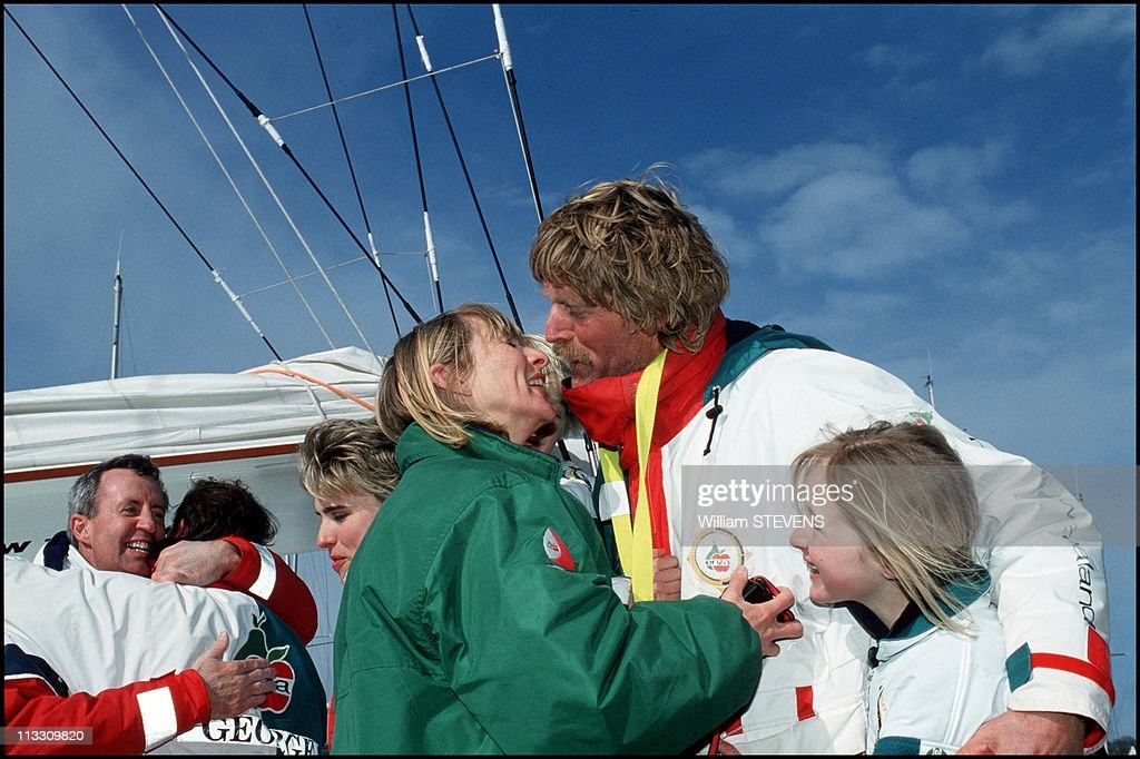 Peter Blake Breaks World Record Of Race Around The World With His Boat 'Enza' On April 1St 1994