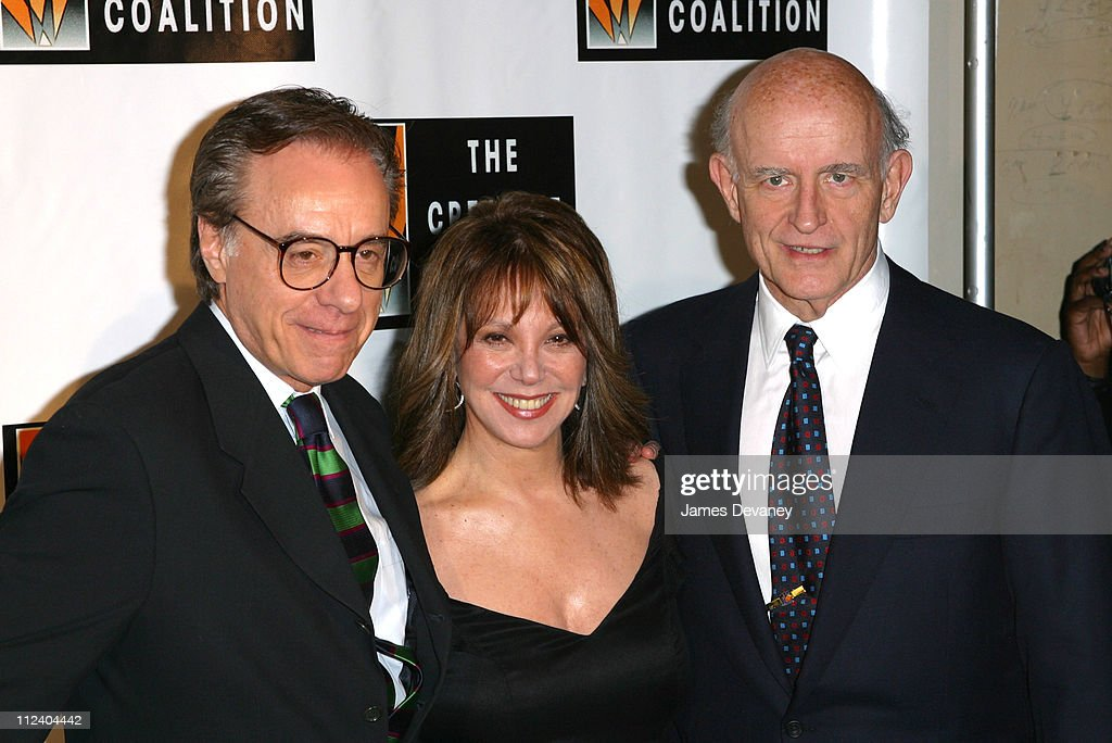 Peter Bogdanovich, Marlo Thomas and Peter Boyle during Creative Coalition's 'Seconding the First' Gala Benefit Concert at Hammerstein Ballroom in New York City, New York, United States.