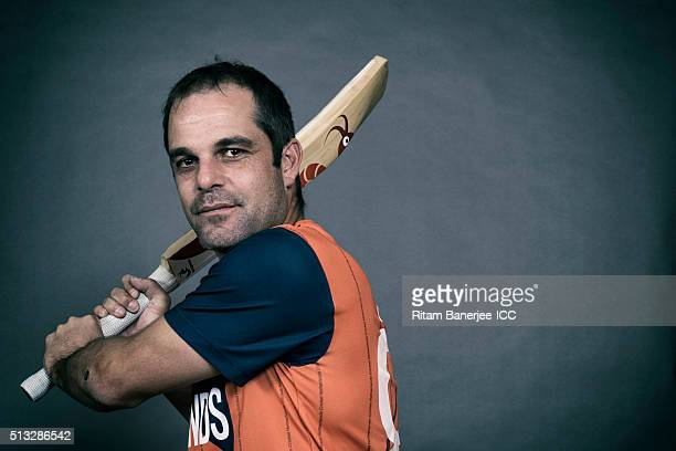 Peter Borren Captain of the Netherlands poses during the official photocall for the ICC Twenty20 World on March 2 2016 in Mohali India