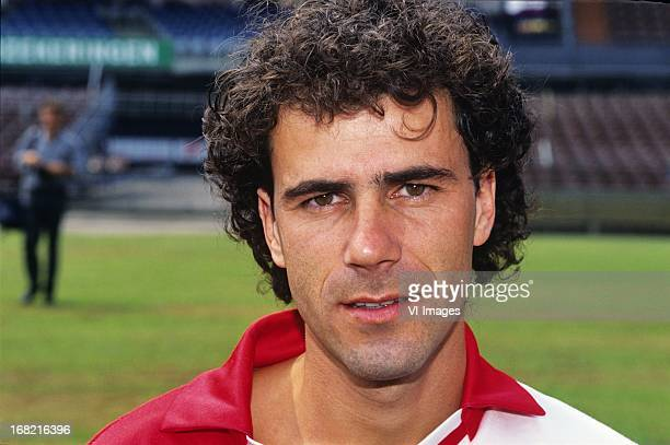 Peter Bosz during the team presentation of Feyenoord in 1992 in Rotterdam The Netherlands