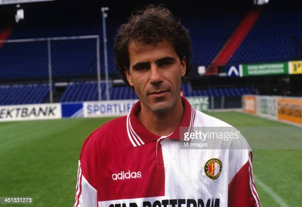 Peter Bosz during the team presentation of Feyenoord in 1996 in Rotterdam The Netherlands