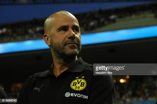 Peter Boszcoach of Borussia Dortmund looks on prior to the preseason friendly match between Urawa Red Diamonds and Borussia Dortmund at Saitama...