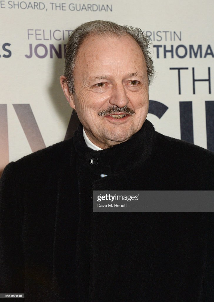 Peter Bowles attends the UK Premiere of 'The Invisible Woman' at the ODEON Kensington on January 27, 2014 in London, England.