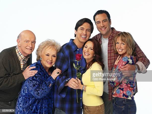 Peter Boyle Doris Roberts Ray Romano Patricia Heaton Brad Garrett and Monica Horan star in EVERYBODY LOVES RAYMOND on the CBS Television Network