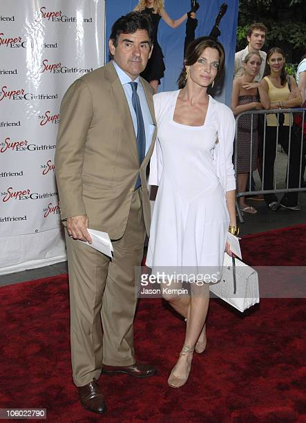 Peter Brandt and Stephanie Seymour during 'My Super ExGirlfriend' New York Premiere at Chelsea Clearview Cinema in New York City New York United...
