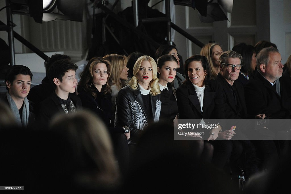 <a gi-track='captionPersonalityLinkClicked' href=/galleries/search?phrase=Peter+Brant&family=editorial&specificpeople=2469568 ng-click='$event.stopPropagation()'>Peter Brant</a>, Harry Brant, <a gi-track='captionPersonalityLinkClicked' href=/galleries/search?phrase=Stephanie+Seymour&family=editorial&specificpeople=208774 ng-click='$event.stopPropagation()'>Stephanie Seymour</a>, <a gi-track='captionPersonalityLinkClicked' href=/galleries/search?phrase=Jaime+King+-+Actress&family=editorial&specificpeople=206809 ng-click='$event.stopPropagation()'>Jaime King</a> and <a gi-track='captionPersonalityLinkClicked' href=/galleries/search?phrase=Allison+Williams+-+Actress&family=editorial&specificpeople=594198 ng-click='$event.stopPropagation()'>Allison Williams</a> attend Jason Wu during Fall 2013 Mercedes-Benz Fashion Week on February 8, 2013 in New York City.