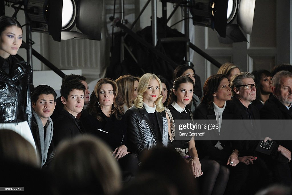 <a gi-track='captionPersonalityLinkClicked' href=/galleries/search?phrase=Peter+Brant&family=editorial&specificpeople=2469568 ng-click='$event.stopPropagation()'>Peter Brant</a>, Harry Brant, <a gi-track='captionPersonalityLinkClicked' href=/galleries/search?phrase=Stephanie+Seymour&family=editorial&specificpeople=208774 ng-click='$event.stopPropagation()'>Stephanie Seymour</a>, <a gi-track='captionPersonalityLinkClicked' href=/galleries/search?phrase=Jaime+King+-+Attrice&family=editorial&specificpeople=206809 ng-click='$event.stopPropagation()'>Jaime King</a> and <a gi-track='captionPersonalityLinkClicked' href=/galleries/search?phrase=Allison+Williams&family=editorial&specificpeople=594198 ng-click='$event.stopPropagation()'>Allison Williams</a> attend Jason Wu during Fall 2013 Mercedes-Benz Fashion Week on February 8, 2013 in New York City.