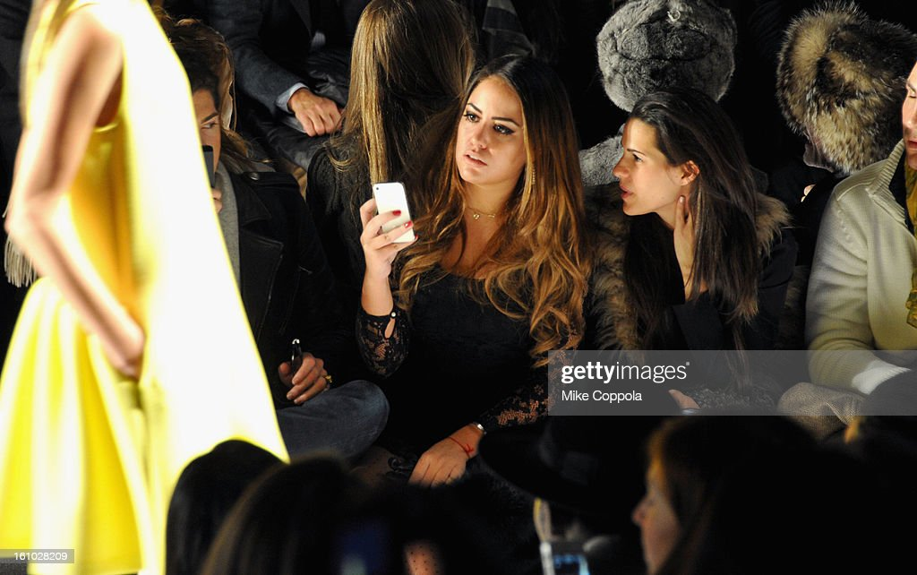Peter Brant II and <a gi-track='captionPersonalityLinkClicked' href=/galleries/search?phrase=Yvette+Prieto&family=editorial&specificpeople=6355715 ng-click='$event.stopPropagation()'>Yvette Prieto</a> attend the Rebecca Minkoff Fall 2013 fashion show during Mercedes-Benz Fashion at The Theatre at Lincoln Center on February 8, 2013 in New York City.