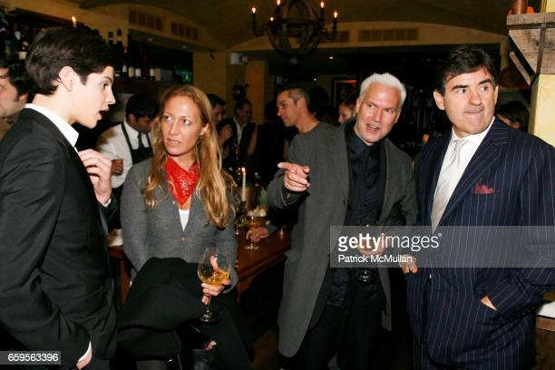 Peter Brant II Diana Picasso Klaus Bisenbach and Peter Brant attend INTERVIEW hosts URS FISCHER New Museum After Party at Civetta on October 27 2009...