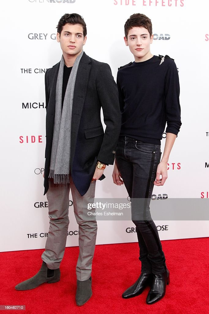 Peter Brant Jr. and Harry Brant attend the Open Road, The Cinema Society & Michael Kors premiere of 'Side Effects' at AMC Loews Lincoln Square on January 31, 2013 in New York City.