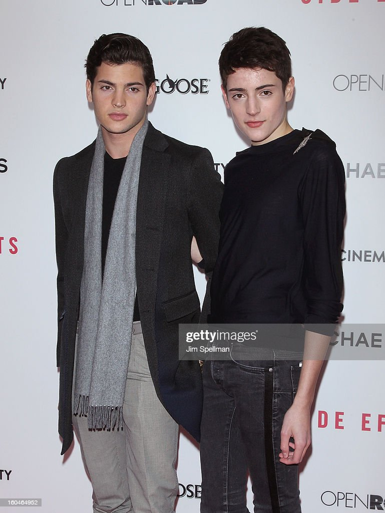 Peter Brant Jr. and Harry Brant attend the Open Road With The Cinema Society And Michael Kors Host The Premiere Of 'Side Effects' at AMC Lincoln Square Theater on January 31, 2013 in New York City.