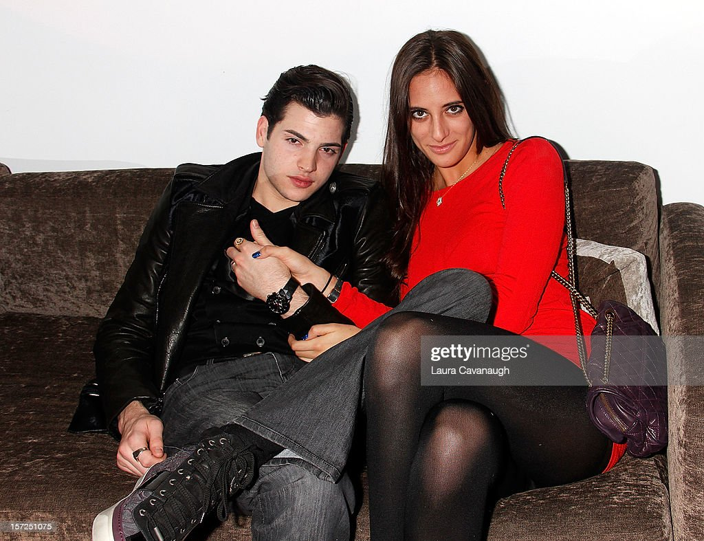 Peter Brant Jr. and Julia Moshy attend Kevin McHugh Pucci-Inspired Sculpture Collection launch at The Out NYC on November 30, 2012 in New York City.