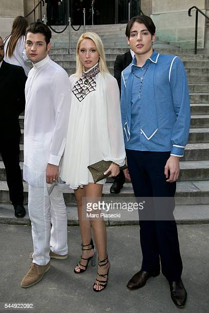 Peter Brant Jr Princess Maria Olympia and Harry Brant attend the Giambattista Valli Haute Couture Fall/Winter 20162017 show as part of Paris Fashion...
