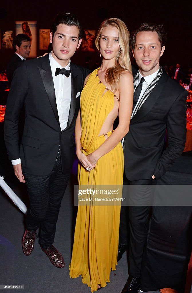 Peter Brant Jr, <a gi-track='captionPersonalityLinkClicked' href=/galleries/search?phrase=Rosie+Huntington-Whiteley&family=editorial&specificpeople=2244343 ng-click='$event.stopPropagation()'>Rosie Huntington-Whiteley</a> and <a gi-track='captionPersonalityLinkClicked' href=/galleries/search?phrase=Derek+Blasberg&family=editorial&specificpeople=856710 ng-click='$event.stopPropagation()'>Derek Blasberg</a> attend amfAR's 21st Cinema Against AIDS Gala presented by WORLDVIEW, BOLD FILMS, and BVLGARI at Hotel du Cap-Eden-Roc on May 22, 2014 in Cap d'Antibes, France.