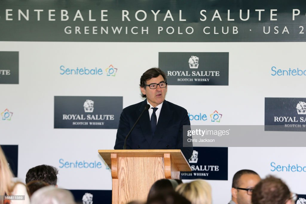 <a gi-track='captionPersonalityLinkClicked' href=/galleries/search?phrase=Peter+Brant&family=editorial&specificpeople=2469568 ng-click='$event.stopPropagation()'>Peter Brant</a> speaks at the Greenwich Polo Club during the sixth day of HRH Prince Harry's visit to the United States. The Sentebale Royal Salute Polo Cup took place at Greenwich Polo Club on Wednesday 15th May. The Sentebale Land Rover team was captained by Royal Salute Ambassador Malcolm Borwick with team members Marc Ganzi, Michael Carrazza and Prince Harry, one of the founding Patrons of Sentebale. The St. Regis polo team was captained by Sentebale's Ambassador Nacho Figueras with team members Peter Orthwein, Steve Lefkowitz and Dawn Jones. Royal Salute played host to a number of high profile celebrities including His Grace Torquhil Ian Campbell, the 13th Duke of Argyll, Karolina Kurkova and Olivia Palermo. Royal Salute World Polo is a global programme, which now supports tournaments across four continents. The luxury Scotch's involvement with Polo is founded on the game's incredible power, skill and elegance; qualities which blend perfectly with Royal Salute Scotch whisky, at Greenwich Polo Club on May 15, 2013 in Greenwich, Connecticut.