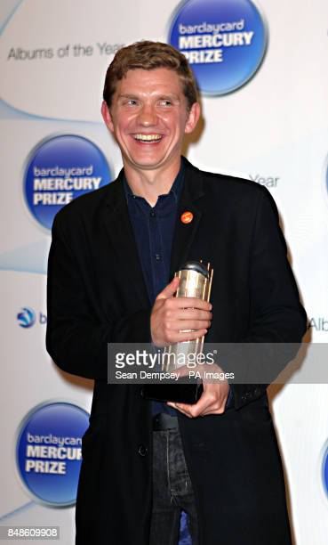 Peter Brewis one half of Field Music at the Hospital club in Covent Garden London who has been nominated along with his brother David for best album...