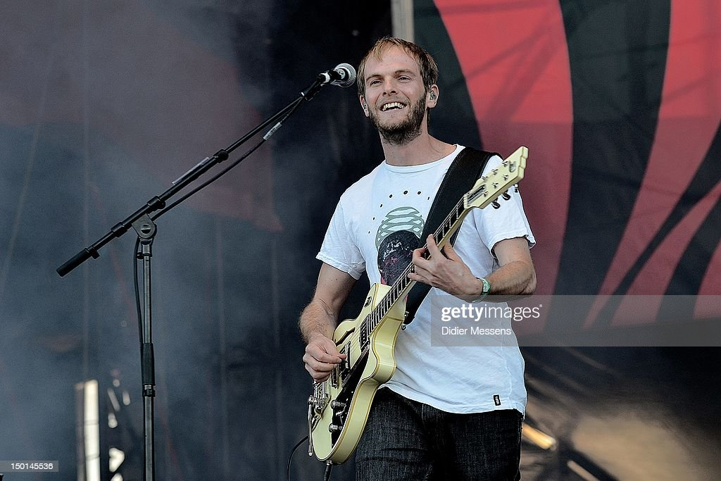 Peter Brugger of Sportfreunde Stiller performs on stage during Sziget Festival on August 10, 2012 in Budapest, Hungary.