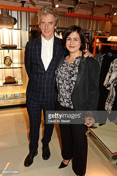 Peter Capaldi and Londoner's Diary editor Joy Lo Dico attend the London Evening Standard Londoner's Diary 100th Birthday Party in partnership with...