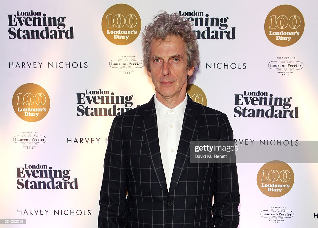 <a gi-track='captionPersonalityLinkClicked' href=/galleries/search?phrase=Peter+Capaldi&family=editorial&specificpeople=639349 ng-click='$event.stopPropagation()'>Peter Capaldi</a> attends the London Evening Standard Londoner's Diary 100th Birthday Party in partnership with Harvey Nichols at Harvey Nichols on May 25, 2016 in London, England.