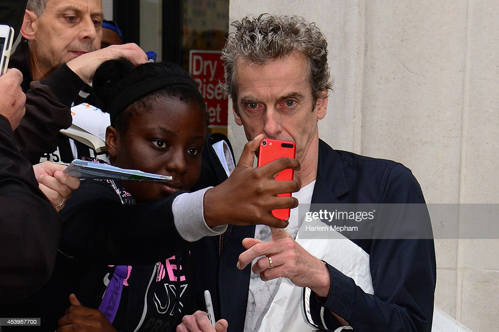 <a gi-track='captionPersonalityLinkClicked' href=/galleries/search?phrase=Peter+Capaldi&family=editorial&specificpeople=639349 ng-click='$event.stopPropagation()'>Peter Capaldi</a> sighted outside BBC Radio Two on August 22, 2014 in London, England.
