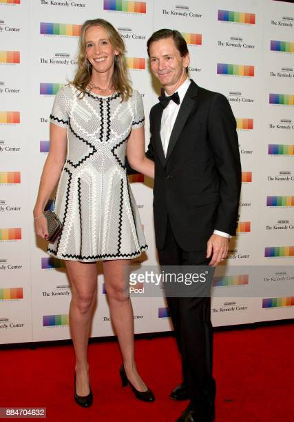 Peter Carter Executive Vice President Chief Legal Officer and Corporate Secretary Delta Airlines and Teresa Carter arrive for the formal Artist's...